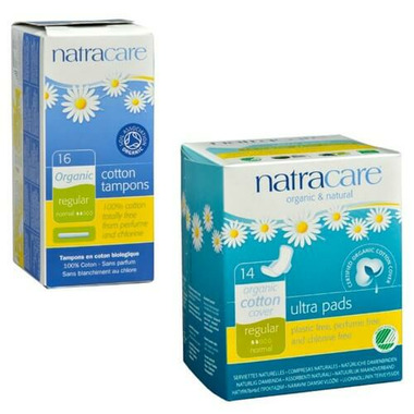 Natracare Natural Ultra Pads with Wings & Tampon Bundle
