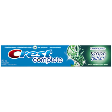 Crest Complete Extra White + Scope Outlast Toothpaste