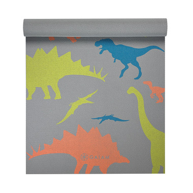 Gaiam Kids Printed Yoga Mat Dino Zone