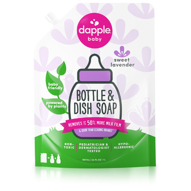 Dapple Lavender Scent Baby Bottle & Dish Liquid Refill Pack