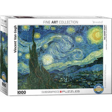 Eurographics Starry Night by Vincent van Gogh Puzzle