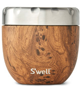 S'well Eats Stainless Steel Thermal Container Teakwood