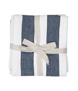 Harman Industrial Stripe Basketweave Tea Towels Navy and White
