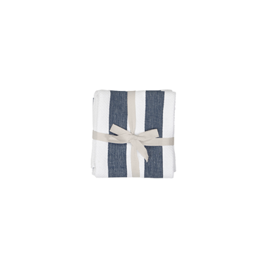 Harman Industrial Stripe Basketweave Tea Towels Navy and White