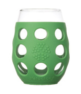 Lifefactory Small Wine Glasses with Grass Green Silicone Sleeve