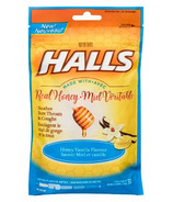 Halls Bag Lozenges Mentho-Lyptus Honey Vanilla