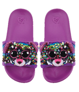 Ty Fashion Dotty the Leopard Sequin Pool Slides