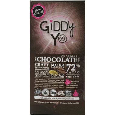 Giddy Yoyo Organic Chocolate Bar Moka Cardamom