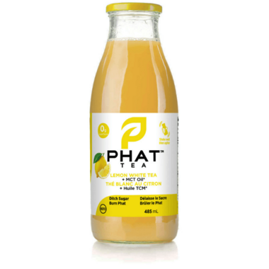 Phat Tea Lemon White Tea with Pink Salt & MCT Oil