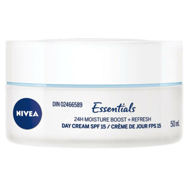 Nivea Essentials 24H Moisture Boost And Refresh Day Cream with SPF 15