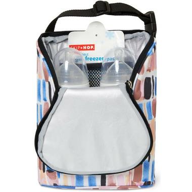 Skip Hop Grab & Go Double Bottle Bag Brush Stroke