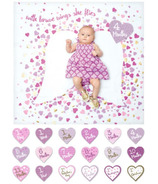Lulujo Deluxe Edition Baby's First Year Blanket & Cards Set