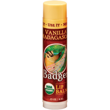 Badger Vanilla Madasgascar Lip Balm