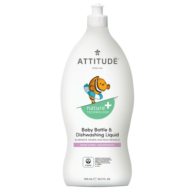 ATTITUDE Nature+ Little Ones Baby Bottle & Dishwashing Liquid Sweet Lullaby