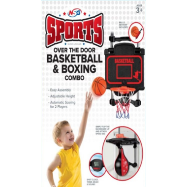 NSG Sports Over the Door Basketball & Boxing Combo