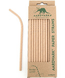Aardvark Biodegradable Paper Straws Kraft