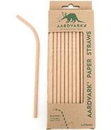 Aardvark Biodegradable Paper Straws Kraft