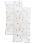Lulujo Security Blankets Muslin Cotton Modern Llama