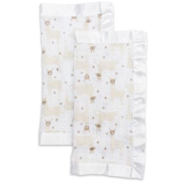 Lulujo Security Blankets Muslin Cotton Modern Llama