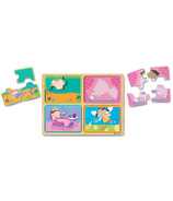 Melissa & Doug Natural Play Wooden Puzzle Little Princess