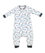 Nest Designs Organic Cotton Long Sleeve Sleep Suit 1.0 TOG Orca White