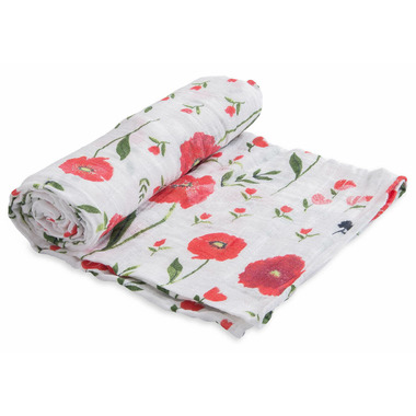 Little Unicorn Cotton Muslin Swaddle Summer Poppy