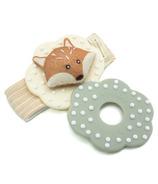 MITTEEZ WRISTEEZ Organic Baby Teething Wristlet Rattle Finley the Fox