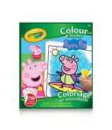 Crayola Livre à colorier avec autocollants Peppa Pig