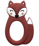 Little Cheeks Fox Silicone Teether Rust
