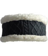 Pudus Headband Cable Knit Grey Adult
