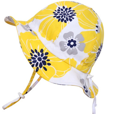 Twinklebelle Grow-With-Me Baby Sun Hat Yellow Flower