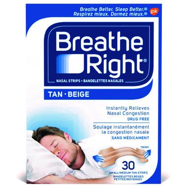 Breathe Right Tan Small/Medium Nasal Strips