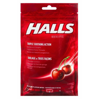 Halls Bag Mentho-Lyptus Drop Cherry