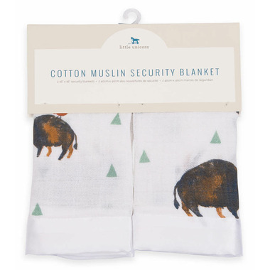 Little Unicorn Cotton Muslin Security Blankets Bison