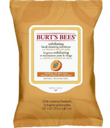 Burt's Bees Exfoliating Facial Cleansing Towelettes with Peach, 25