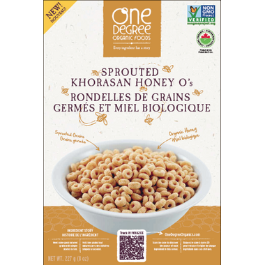One Degree Sprouted Khorasan Honey O\'s Cereal