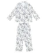 Nest Designs Women's Bamboo Pima Long Sleeve Button-up PJ Set Mama Deerest