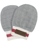 Juddlies Organic Cottage Scratch Mitts Driftwood