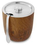 S'well Stainless Steel Ice Bucket & Tongs Teakwood