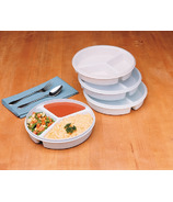 Drive Medical Partitioned Scoop Dish With Lid