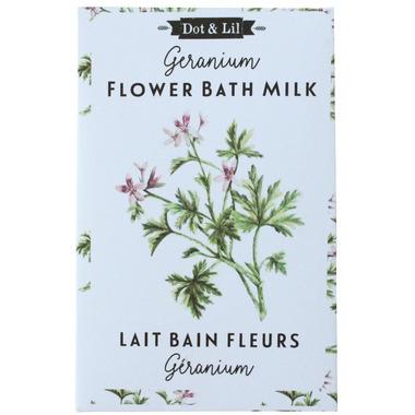 Dot & Lil Geranium Flower Milk Bath Sachet