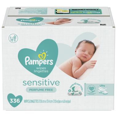 Pampers Baby Wipes Sensitive Perfume Free Pop-Top Packs