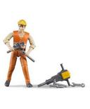 Bruder Toys Construction Worker Figure