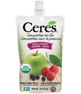 Ceres Organic Smoothie To Go Apple Berry