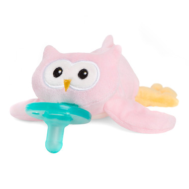 WubbaNub Pink Owl Pacifier