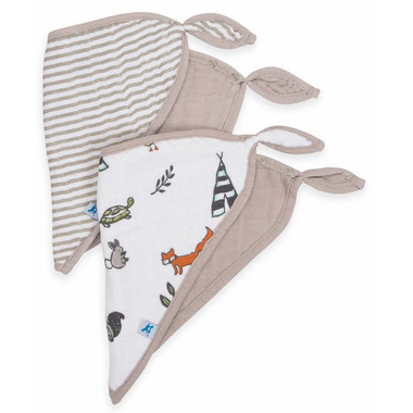 Little Unicorn Cotton Muslin Bandana Bib Set Forest Friends