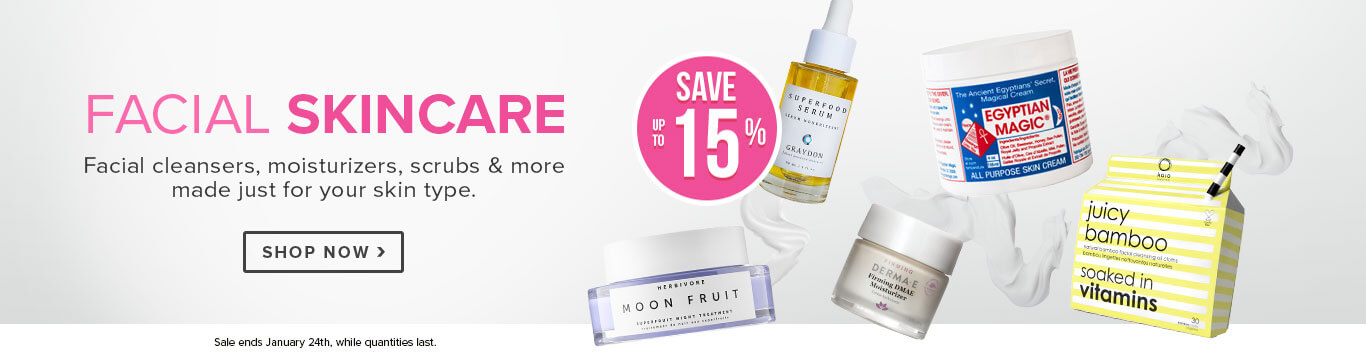 Save up to 15% off Facial Skincare