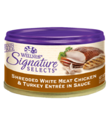 Wellness Signature Selects Shredded Chicken & Turkey Wet Food CASE OF 12
