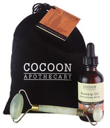 Cocoon Apothecary Jade Roller And Rosehip Oil Gift Bag