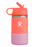 Hydro Flask Kids Wide Mouth 2.0 with Straw Lid Hibiscus Peach